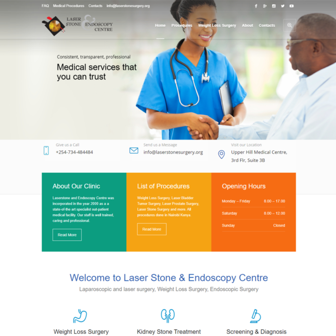 Laserstone and endoscopy center